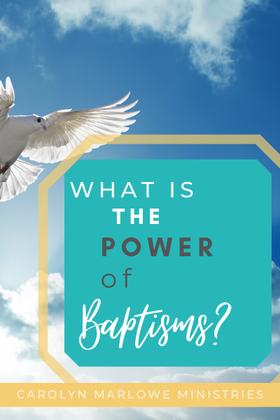 dove in background with words what is the power of baptisms