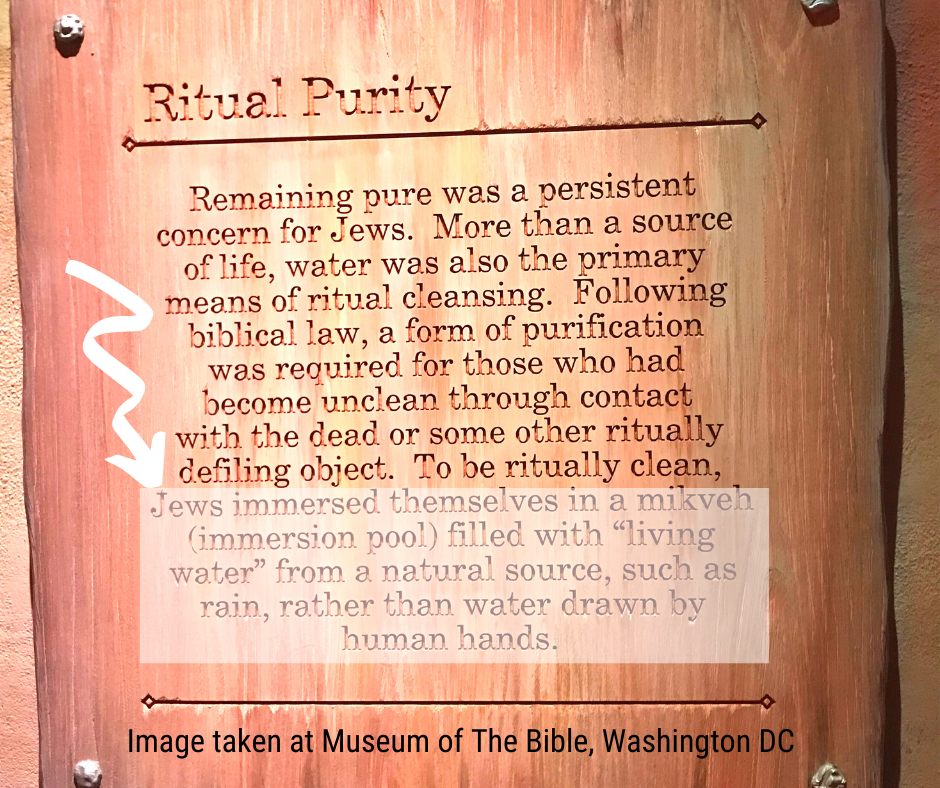 ritual purity in types of baptisms