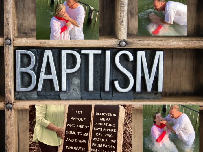 types of baptism picture of word Baptism and then three pictures of woman getting baptized